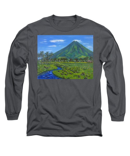 Mayon Volcano Long Sleeve T-Shirt
