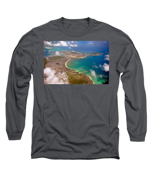 Long Sleeve T-Shirt featuring the photograph Mcbh Aerial View by Dan McManus
