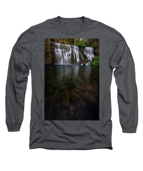 Long Sleeve T-Shirt featuring the photograph Mccloud Falls by Dustin LeFevre