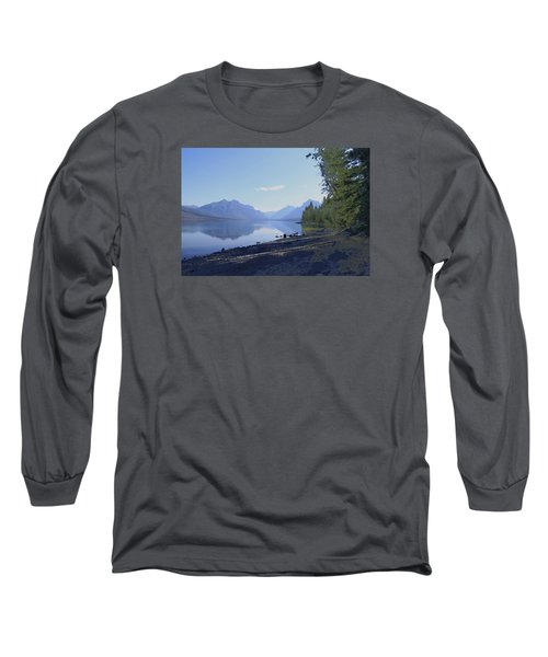 Long Sleeve T-Shirt featuring the photograph Mcdonald Lake by Susan Crossman Buscho