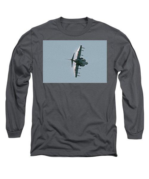Mcdonnell-douglas Av-8b Harrier Buno 164119 Of Vma-211 Turning Mcas Miramar October 18 2003 Long Sleeve T-Shirt by Brian Lockett