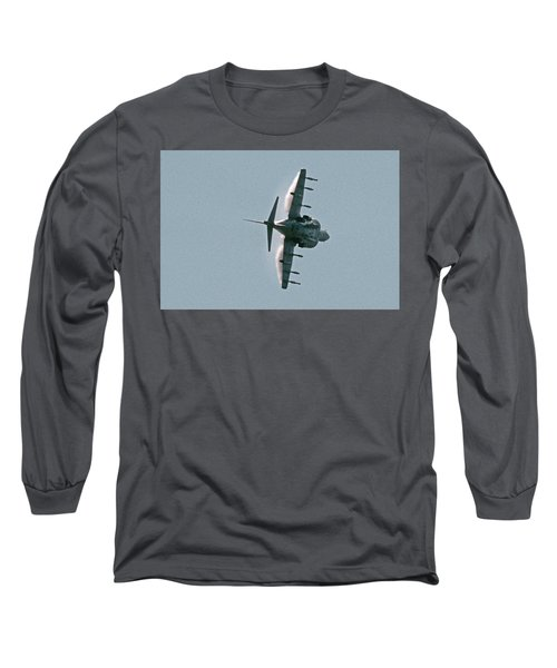 Mcdonnell-douglas Av-8b Harrier Buno 164119 Of Vma-211 Turning Mcas Miramar October 18 2003 Long Sleeve T-Shirt