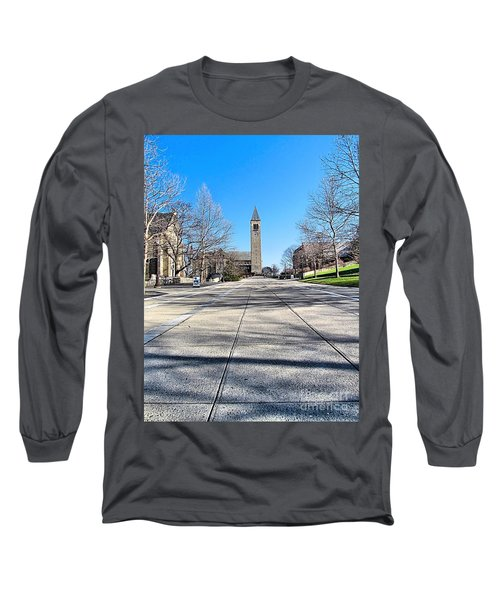 Mcgraw Tower  Long Sleeve T-Shirt by Elizabeth Dow
