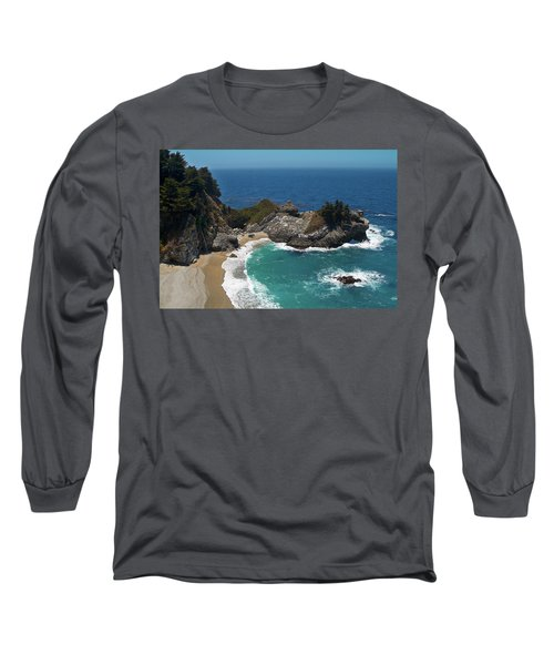 Mcway Falls In Big Sur Long Sleeve T-Shirt