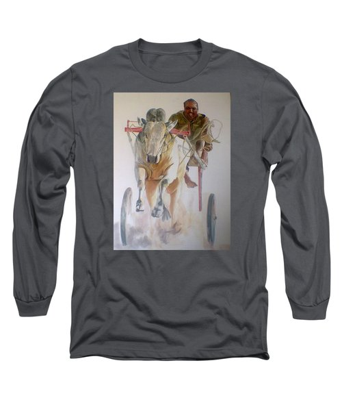 Me And My Partener Long Sleeve T-Shirt by Khalid Saeed
