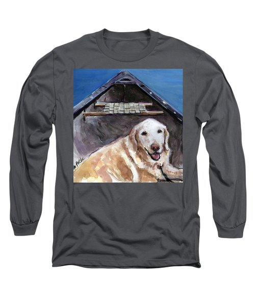 Long Sleeve T-Shirt featuring the painting Me You Canoe by Molly Poole