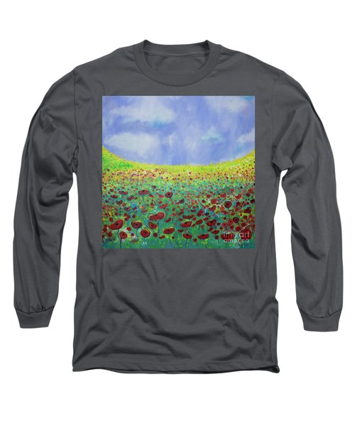Meadow Of Poppies  Long Sleeve T-Shirt