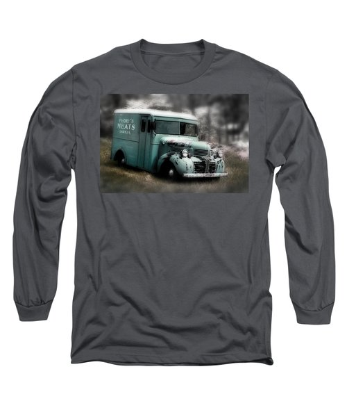 Long Sleeve T-Shirt featuring the painting Meat Truck by Gray  Artus