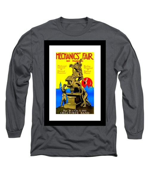 Mechanics Fair San Francisco 1913 II Wesley De Lappe Long Sleeve T-Shirt
