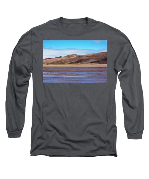 Long Sleeve T-Shirt featuring the photograph Medano Creek by Shara Weber