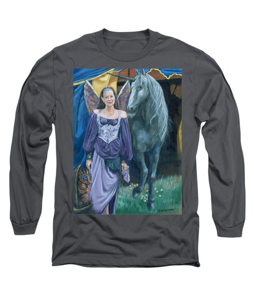 Medieval Fantasy Long Sleeve T-Shirt by Bryan Bustard