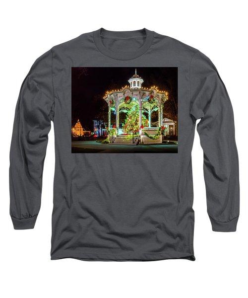 Medina, Ohio Christmas On The Square. Long Sleeve T-Shirt