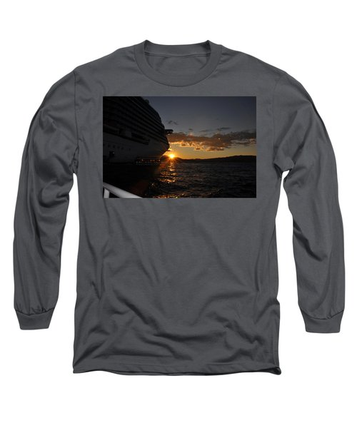 Mediterranean Sunset Long Sleeve T-Shirt