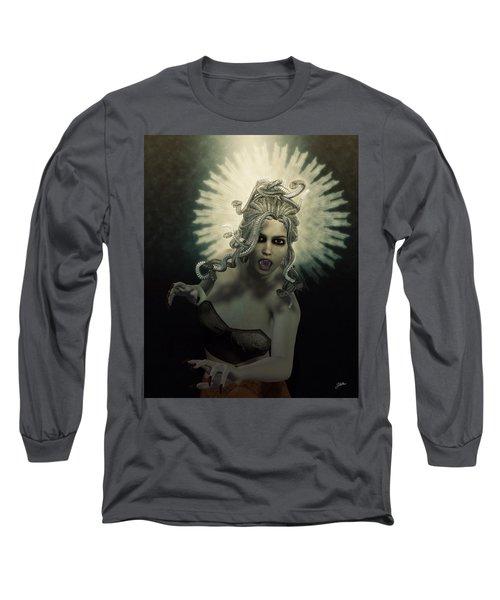 Medusa Long Sleeve T-Shirt by Joaquin Abella