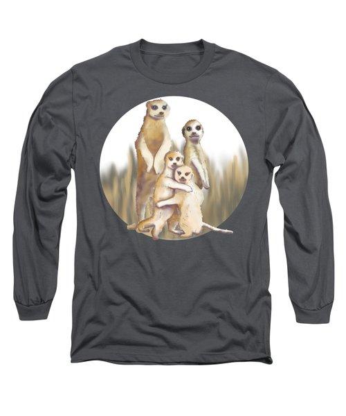 Meerkats  Long Sleeve T-Shirt by April Burton