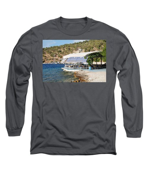 Meganissi Beach Taverna Long Sleeve T-Shirt