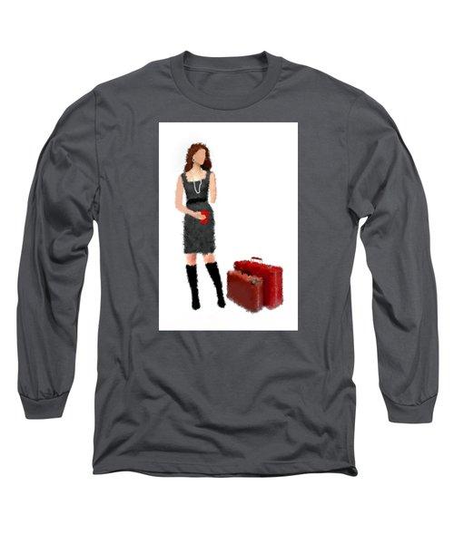 Long Sleeve T-Shirt featuring the digital art Melanie by Nancy Levan