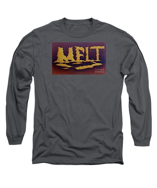 Long Sleeve T-Shirt featuring the painting Melt by AnnaJo Vahle