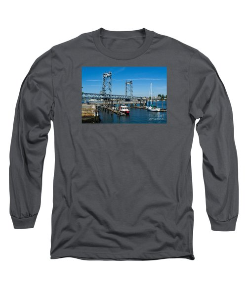 Memorial Bridge Portsmouth Long Sleeve T-Shirt by Kevin Fortier