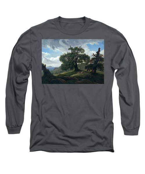 Memory Of A Wooded Island In The Baltic Sea. Oak Trees By The Sea  Long Sleeve T-Shirt