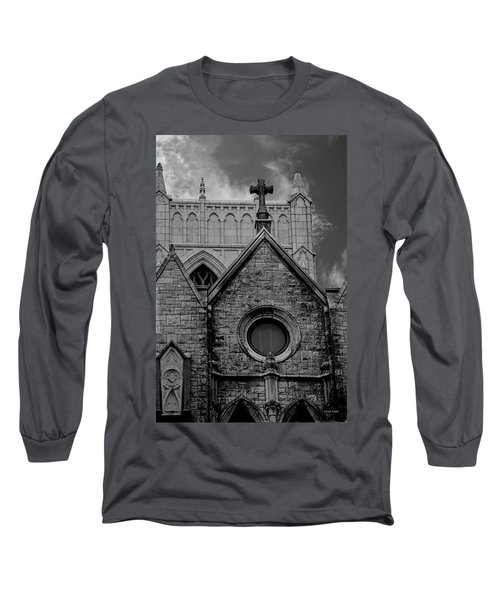Memphis Cross In The Clouds Bw Long Sleeve T-Shirt