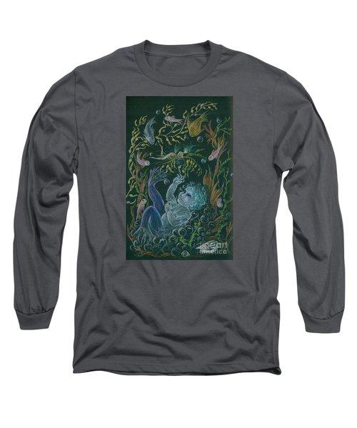Merbaby Blue Long Sleeve T-Shirt