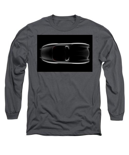 Mercedes 300 Sl Roadster - Top View Long Sleeve T-Shirt