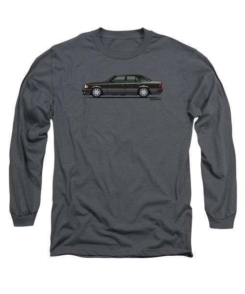 Mercedes Benz 500e W124 Blue-black Metallic Long Sleeve T-Shirt