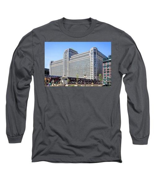 Merchandise Mart Overlooking The L Long Sleeve T-Shirt