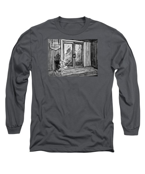 Mercier Orchard's Cider In Bw Long Sleeve T-Shirt by Gretchen Allen