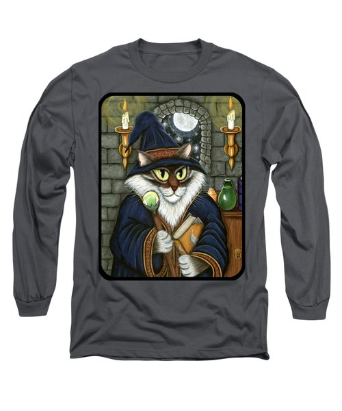 Merlin The Magician Cat Long Sleeve T-Shirt