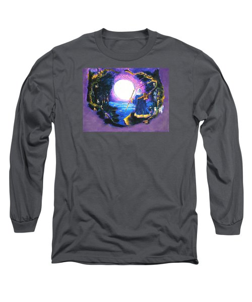 Merlin's Moon Long Sleeve T-Shirt by Seth Weaver