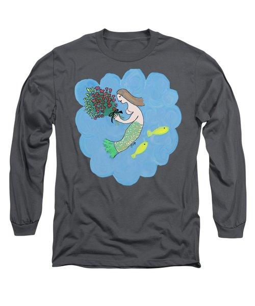 Mermaid Long Sleeve T-Shirt by Priscilla Wolfe