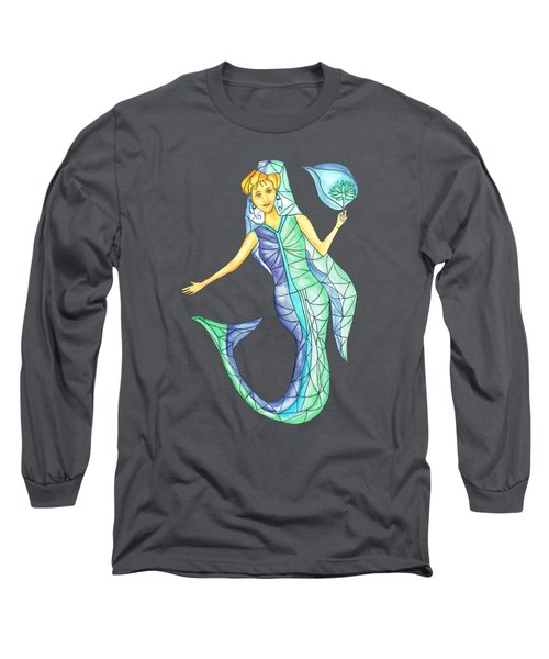 Mermaid Stories B Long Sleeve T-Shirt by Thecla Correya