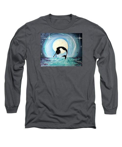 Mermaid Long Sleeve T-Shirt by Tom Riggs