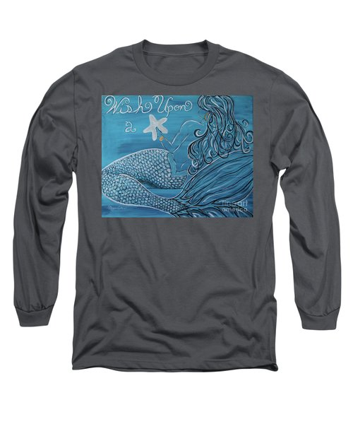 Mermaid- Wish Upon A Starfish Long Sleeve T-Shirt by Megan Cohen