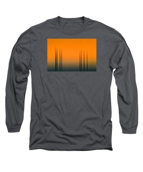 Merritt Island Sunset Digital Abstracts Motion Blur  Long Sleeve T-Shirt by Rich Franco