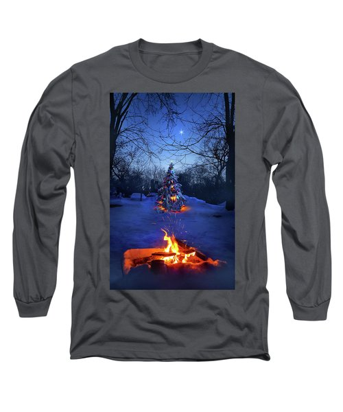 Long Sleeve T-Shirt featuring the photograph Merry Christmas by Phil Koch
