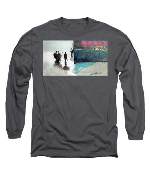 Long Sleeve T-Shirt featuring the painting Mervy by Ed Heaton