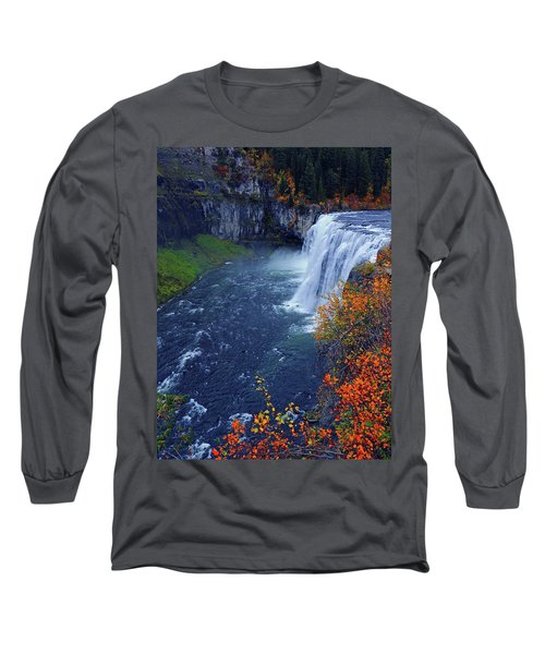 Mesa Falls In The Fall Long Sleeve T-Shirt