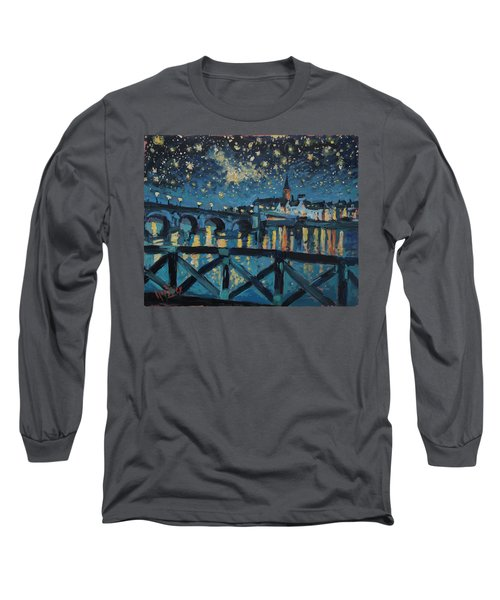 Mestreechter Staarenach Staryy Night Maastricht Long Sleeve T-Shirt