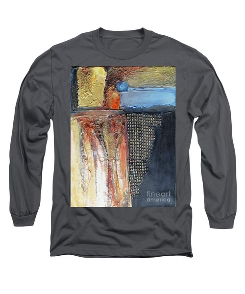Metallic Fall With Blue Long Sleeve T-Shirt