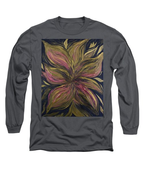 Metallic Flower Long Sleeve T-Shirt