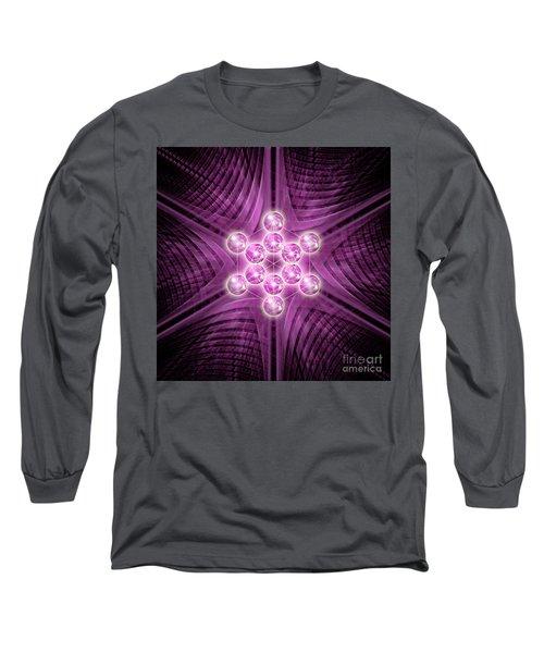 Metatron's Cube Atomic Long Sleeve T-Shirt