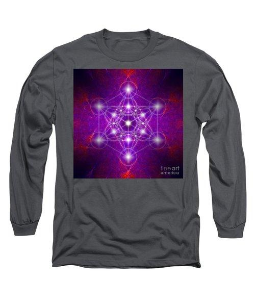 Metatron's Cube Colors Long Sleeve T-Shirt