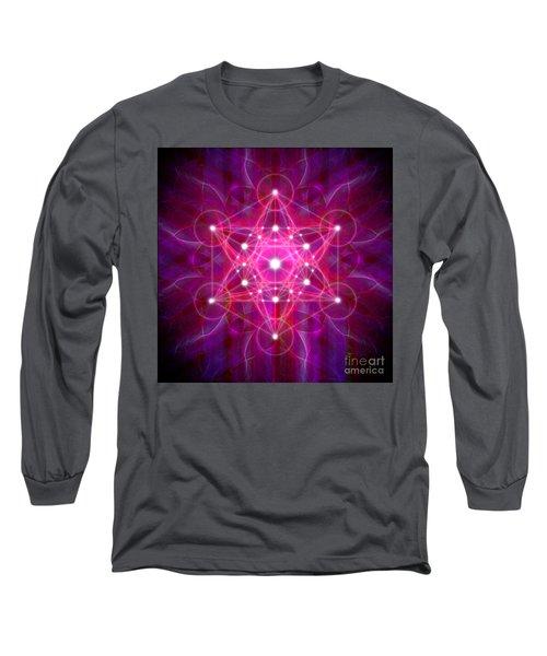 Metatron's Cube Reflection Long Sleeve T-Shirt