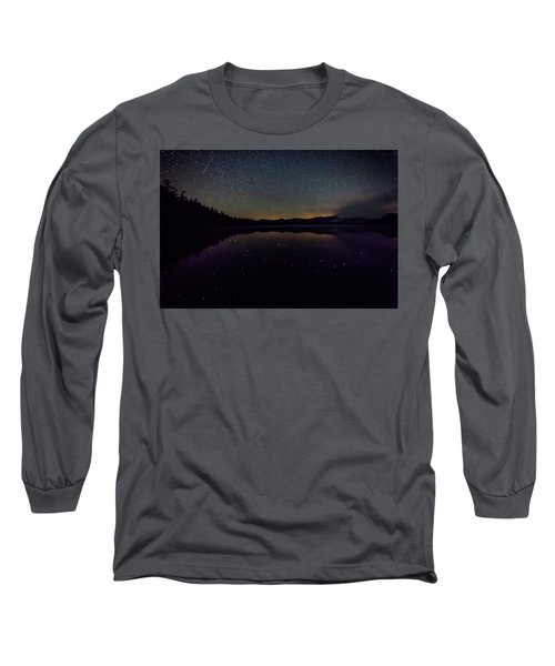 Meteor Over Chocorua Lake Long Sleeve T-Shirt