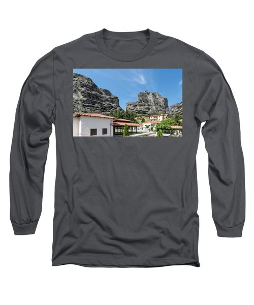 Meteora In Greece Long Sleeve T-Shirt by Arik Baltinester