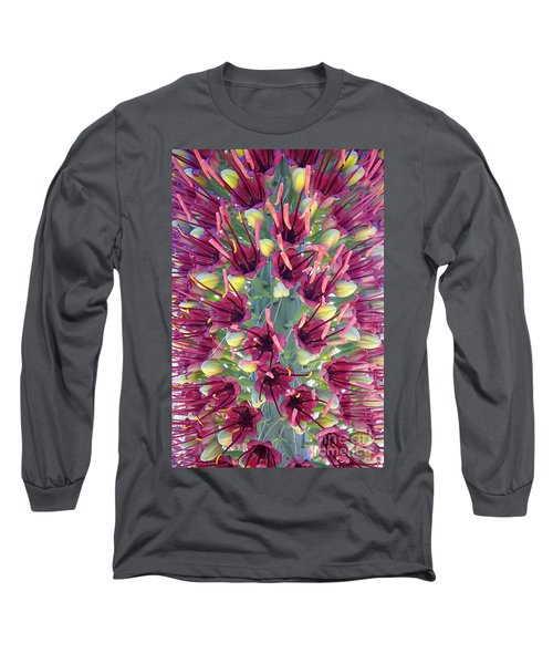 Long Sleeve T-Shirt featuring the photograph Mezcal Pelon Flowers by Martin Konopacki