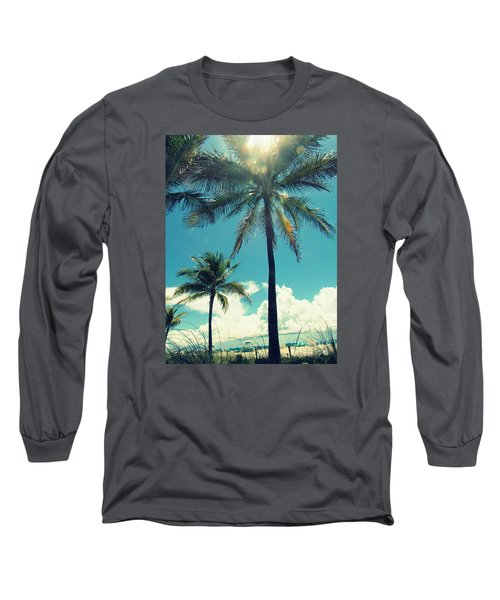 Long Sleeve T-Shirt featuring the photograph Miami Beach by France Laliberte
